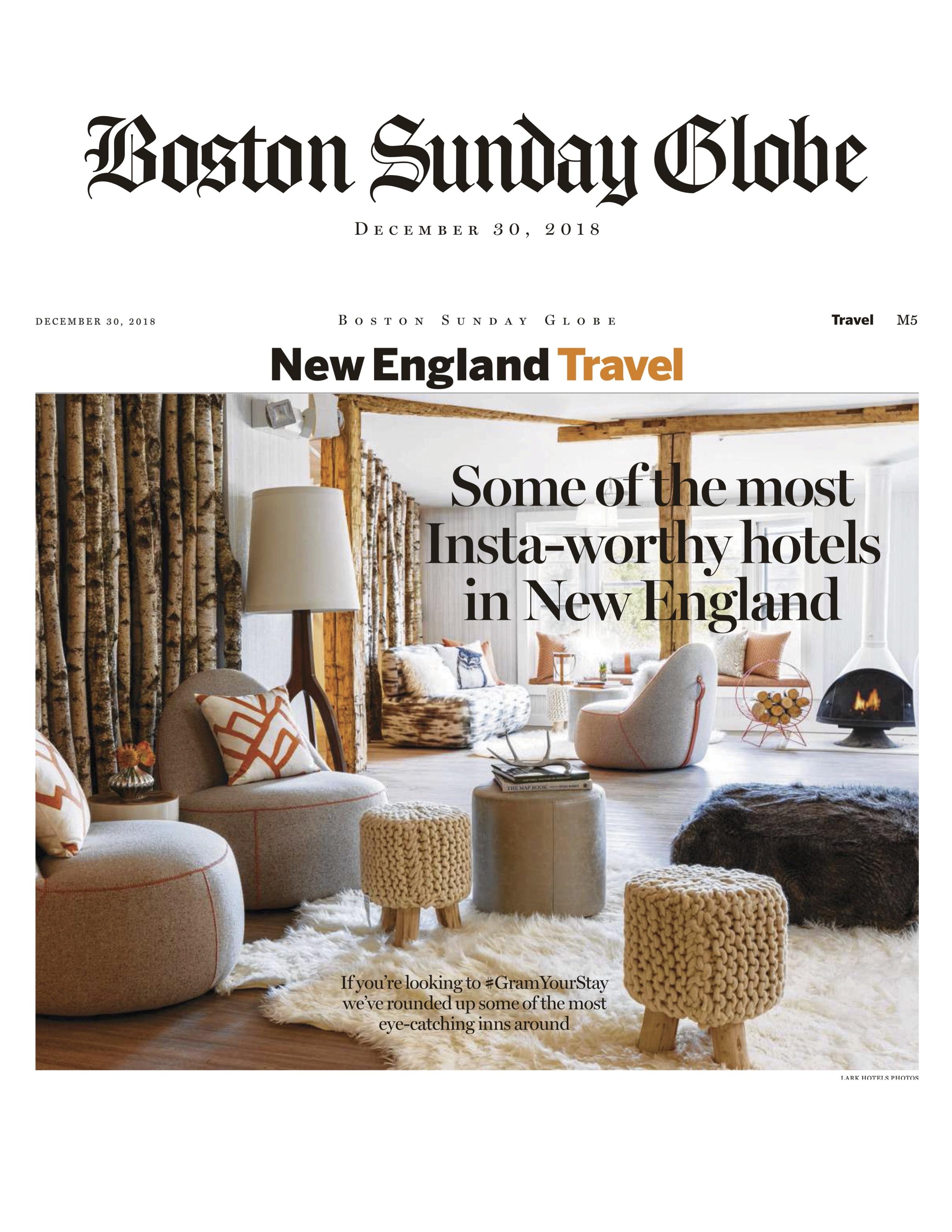 Lark Hotels Press New England Hotel Group Press Coverage